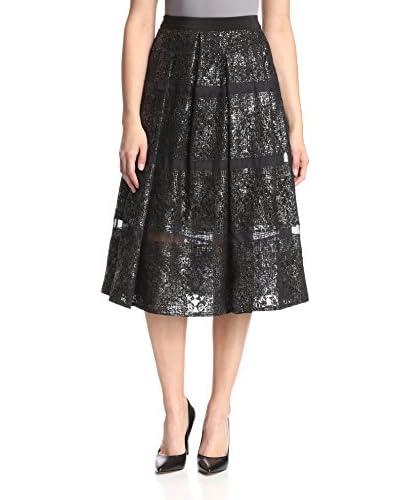 Rebecca Taylor Women's Foil Lace Midi Skirt