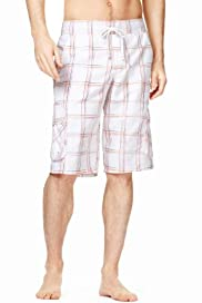 North Coast Painted Checked Cargo Swim Shorts [T28-7859N-S]|F20F
