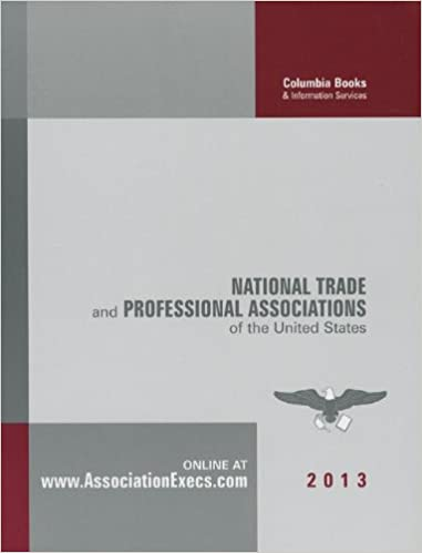 National trade and professional associations of the United States Book Cover