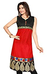Karan Kurtis Womens Cotton Aline Kurta (Kurtis-0277-Xl_Red)