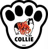 Fear This Collie Dog Pawprint Window Decal