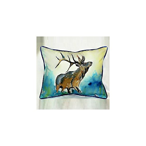 Lodge Elk Indoor / Outdoor Pillow. By Betsy Drake Interiors