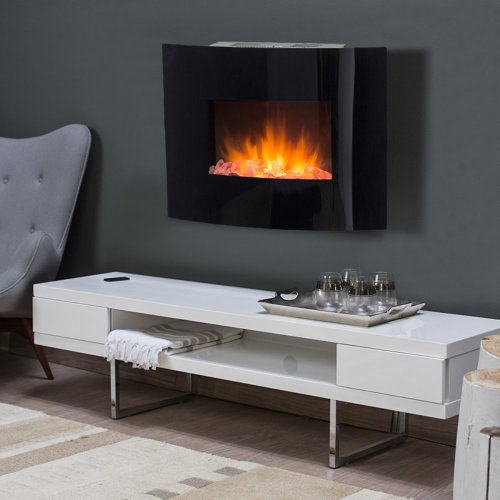 Springfield Wall Fireplace - Crushed Glass Fuel Bed image B00DNW0VXS.jpg