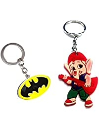 Parrk Batman Yellow Black Metal & Rubber Ganesh Key Chain