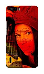 CimaCase Woman With Guitar Designer 3D Printed Case Cover For Huwaei Honor 6 Plus