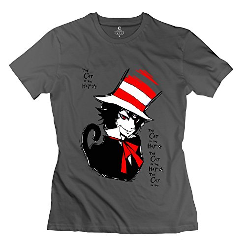 Sihan The Cat In The Hat Women's Geek Tshirts DeepHeather