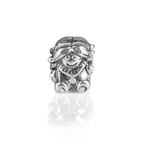 Bling Jewelry Girl Doll 925 Sterling Silver Charm Bead Troll & Pandora Compatible