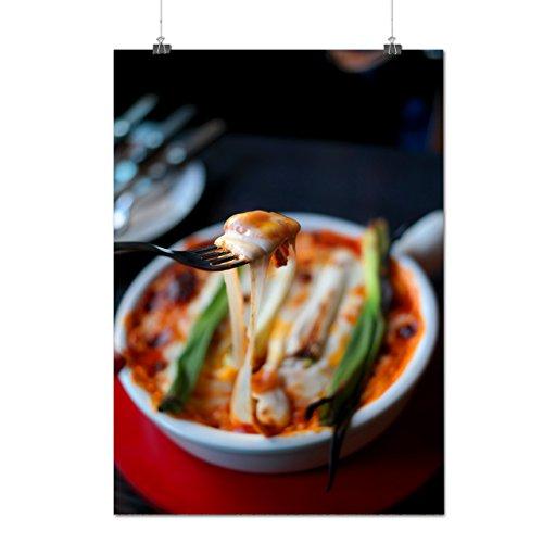 Manger Épicé Fromage Le potage Délicieux Matte/Glacé Affiche A1 (84cm x 60cm) | Wellcoda