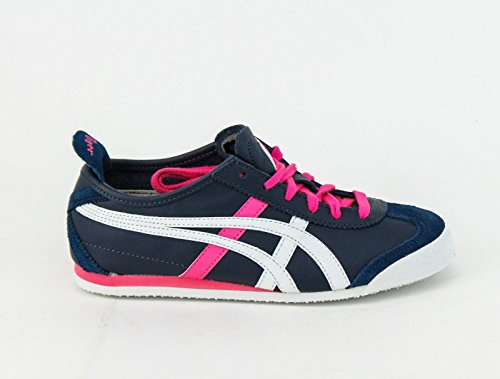 Onitsuka Tiger Women's Mexico 66 Lace-Up Fashion Sneaker,Dark Navy/White,8.5 M US