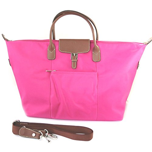 Grande shopping 'Hexagona'fucsia (53x31x14 cm).