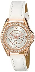 XOXO Women's XO3402 Analog Display Analog Quartz White Watch