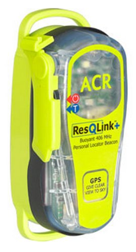 Acr Plb-375 Resqlink+ Personal Locating Beacon With 406 Mhz Floating Plb, Built-In Gps, Strobe And 121 Mhz Homing Beacon