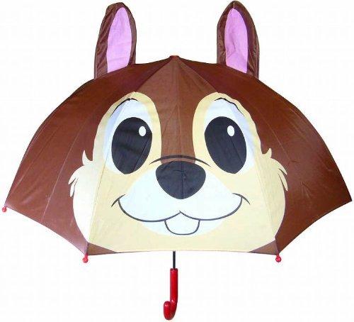 ■□ディズニーキャラクター 耳付きキッズ傘 「チップ」 19248 □■