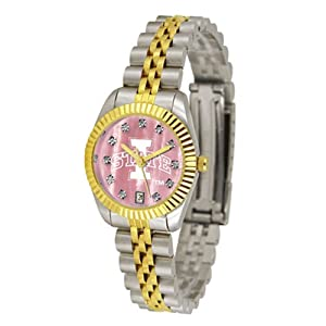 Iowa State Cyclones NCAA Mother of Pearl Executive Ladies Watch by SunTime