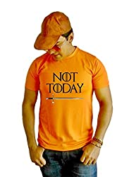 LetsFlaunt Not Today Game of Thrones T-shirt Boys Orange Dry-Fit-Medium Nw