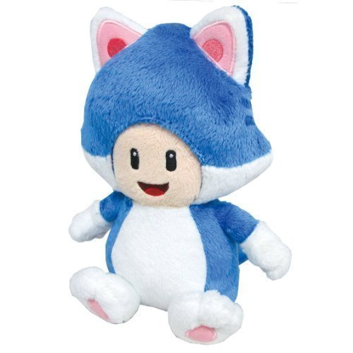 "Super Mario World Neko Cat TOAD 7"" Plush Mario Doll"