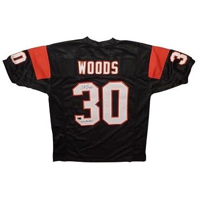 "Ickey Woods Autographed Cincinnati Bengals (Black #30) Custom Jersey w/ ""Ickey Shuffle"""