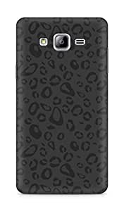 Amez designer printed 3d premium high quality back case cover for Samsung Galaxy ON7 (black and grey leopard print)