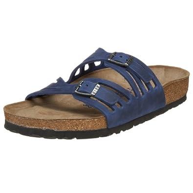 Birkenstock Women's Granada Soft Footbed Sandal,Twilight Blue Oiled Leather,42 M EU