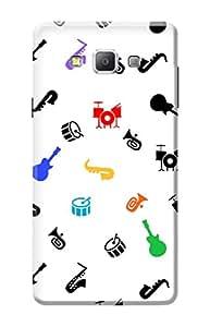 Samsung Galaxy A7 Hard Case Kanvas Cases Premium Quality Designer 3D Printed Lightweight Slim Matte Finish Back Cover for Samsung Galaxy A7