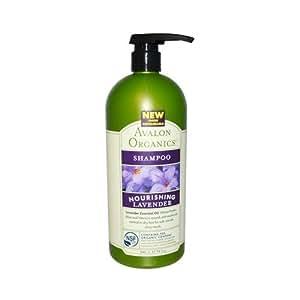 Avalon Organic Botanicals Shampoo Organic Nourishing, Lavender - Value Size 32 Oz
