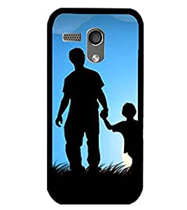 Printvisa Father Son In Moonlight Back Case Cover for Motorola Moto G X1032::Motorola Moto G (1st Gen)