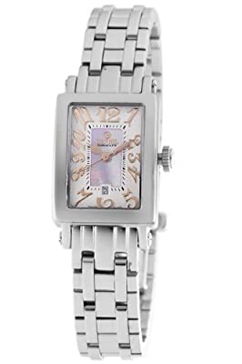Gevril Women's 8048RB Super Mini Quartz Pink Mother of Pearl Dress Watch