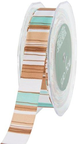 May Arts Horizontal Stripes Grosgrain Ribbon 7/8