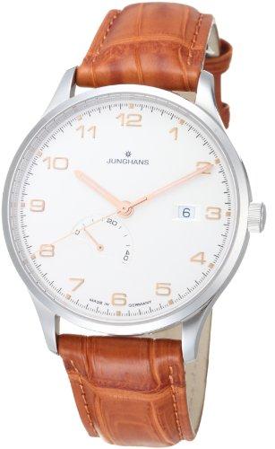 Junghans 027/4781.00 - Reloj analógico automático para hombre, correa de cuero color marrón