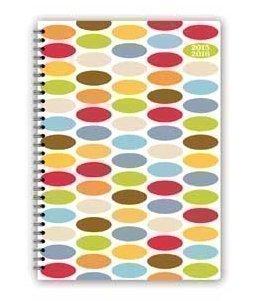 Kalender 2015-2016 A5 Farbenfrohe Ovale Akademischer SPiralgebundener Kalender Wochenansicht 3899