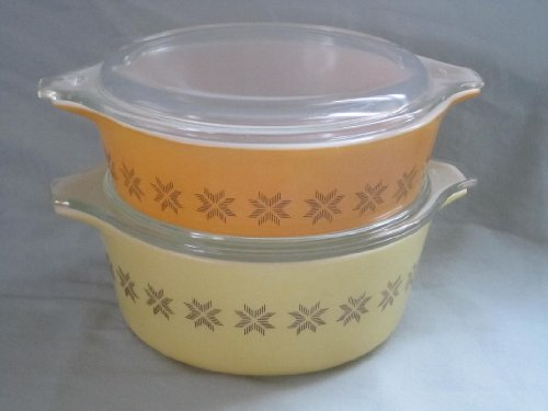 Set of 2 - Vintage 1960s Pyrex