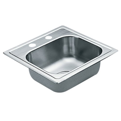 Moen G2245622 2200 Series 22 Gauge Single Bowl Drop In Sink, Stainless Steel