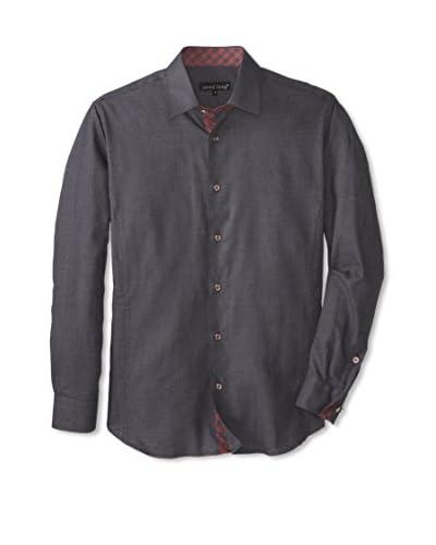 Jared Lang Men's Tonal Sport Shirt with Contrast Trims
