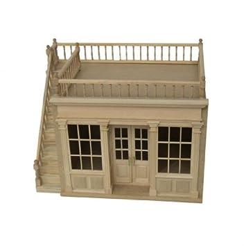 Maison de poupées miniature - Boutique en bois
