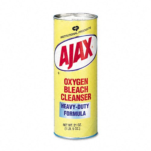 Ajax Products - Ajax - Oxygen Bleach Powder Cleanser, 21 oz Container, 24/Carton - Sold As 1 Carton - Calcite-based, nonchlorinated, economical cleanser for chrome, porcelain, ceramic tile and other durable surfaces. - A great choice when chlorine- or ammonia-based cleaners aren't suitable. -