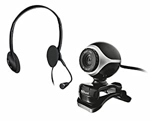 Trust Exis Chatpack with Webcam and Headset - Black