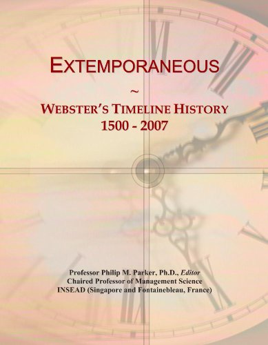Extemporaneous: Webster's Timeline History, 1500 - 2007 PDF