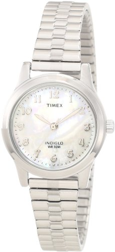 Timex Women's T2M826 Elevated Classics Dress Silver-Tone Expansion Band Watch