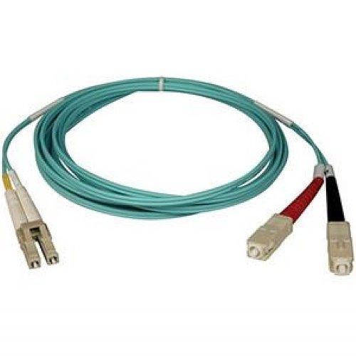 Tripp Lite 10Gb Duplex Multimode 50/125 Om3 Lszh Fiber Patch Cable (Lc/Sc) - Aqua, 10M (33-Ft.)(N816-10M)