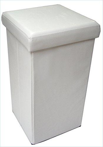 Pouf contenitore richiudibile in ecopelle 32x32x60 cm