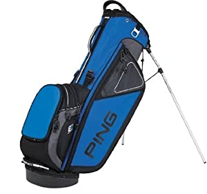 NEW Ping Hoofer 14 Way Black Electric Blue Carry Stand Golf Bag by Ping