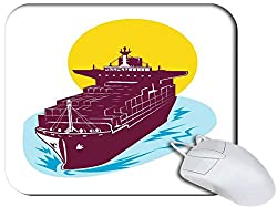 Snoogg Container Cargo Ship Non Slip Rubber Mouse Pad