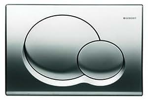 Geberit 115.770.21.1 Samba Dual Flush Actuator Plate, Polished Chrome