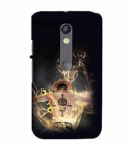 PrintVisa Cool Boy Fire 3D Hard Polycarbonate Designer Back Case Cover for Motorola Moto X Play