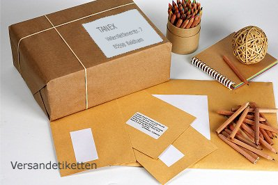 TANEX - 25 feuilles A4 - Etiquettes ADRESSE UNIVERSELLES TW-2229, 70 x 29.7 mm, type carré