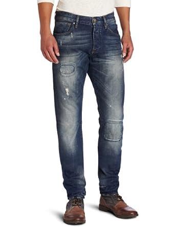 Scotch & Soda Men's Ralston On The Knees Jean, Blue Denim, 30x34