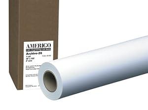 PM Company Perfection Amerigo/Archive 26 Wide Format Ink Jet Rolls, 36 Inches x 150 Feet, 2 Inches Core, White, 1 per Carton (45182)