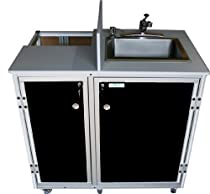 Hot Sale Monsam PRO-01 Propane Powered Self Contained Portable Sink, Black