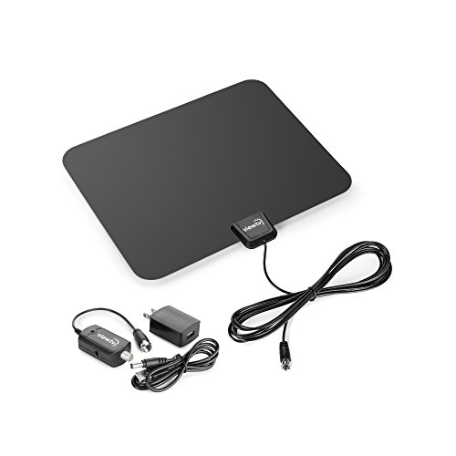 Learn More About ViewTV Flat HD Digital Indoor Amplified TV Antenna - 50 Miles Range - Detachable Am...