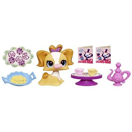 Littlest Pet Shop Sweetest TREATS AND TEA SHOP Playset with #3010 Dog by Littlest Pet Shop